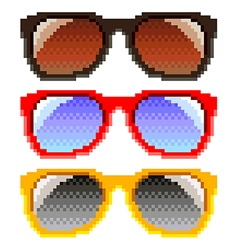 Pixel sunglasses isolated vector image