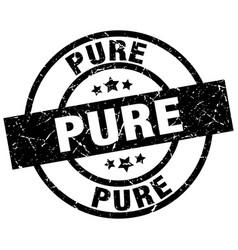 Pure round grunge black stamp vector