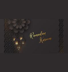 ramadan kareem greeting banner vector image