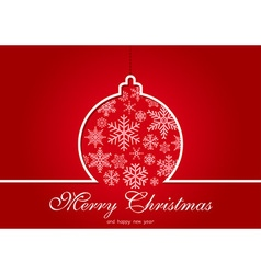Red Christmas Greeting Card vector