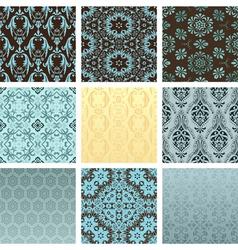Retro wallpaper set vector