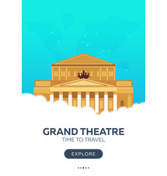 Russia moscow grand theatre time to travel vector