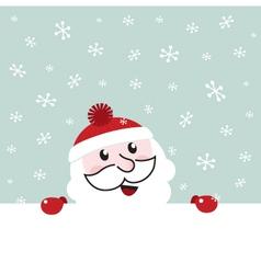 Santa banner vector