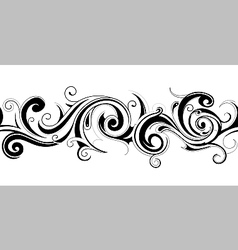 Seamless belt with floral elements vector