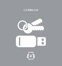 Secure usb - flat minimal icon vector