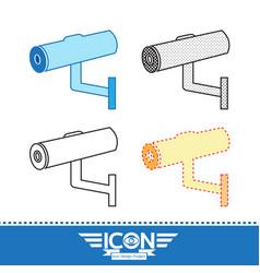security cctv camera icon vector image
