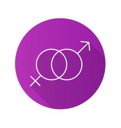 Sex flat design long shadow icon vector