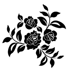 silhouette roses vector image