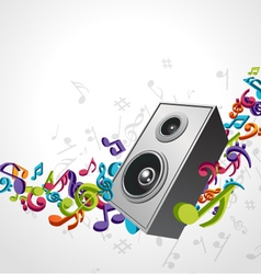 speaker music background vector image