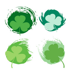 st patricks day green texture vector image
