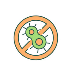 Stop bacterial growth rgb color icon vector