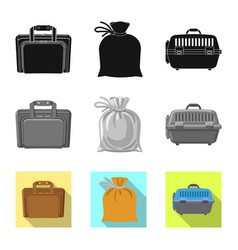 Suitcase and baggage symbol vector