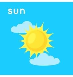 Sun in the sky vector