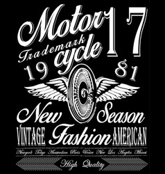 t-shirt graphicsmotorcycle company vector image