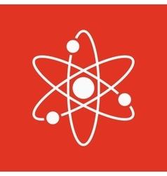 The atom icon Atom symbol Flat vector image