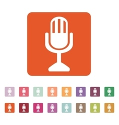 The mic icon Microphone symbol Flat vector image vector image