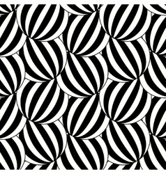 the pattern black and white striped circles vector image