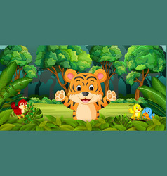 Tiger in the forest vector