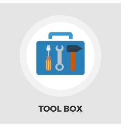Tool box icon flat vector image