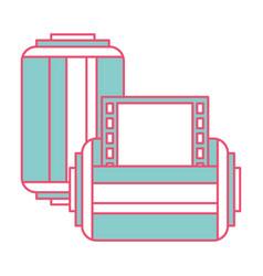 two roll tape photo negative retro design vector image