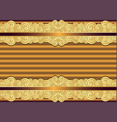 vintage bronze and gold frame vector image
