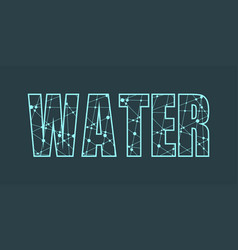 water word lettering vector image