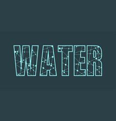 Water word lettering vector
