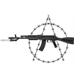 Weapon of anarchy vector image