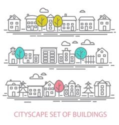 CITISCAPE SET vector image