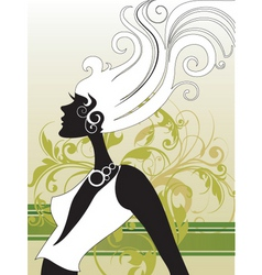 fashion hair vector image vector image
