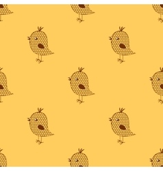 seamless cute birds colorful cartoon pattern vector image