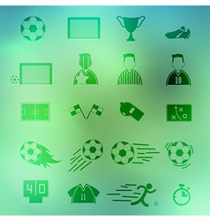 Soccer Icons set on background eps10 vector image vector image