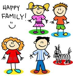 Stick figure family vector