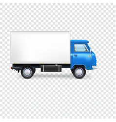 Delivery van on transparent vector image