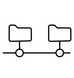 network folder icon vector image vector image