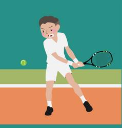tennis athletic sport cartoon set vector image