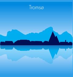 tromso skyline vector image vector image