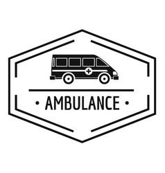ambulance newborn logo simple black style vector image