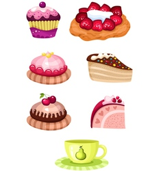 cake set vector image vector image