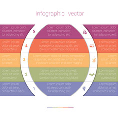 Colorful strips and white semicircles for text 5 vector