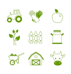 Farm linear icons set vector image vector image