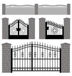 gate doors vector image