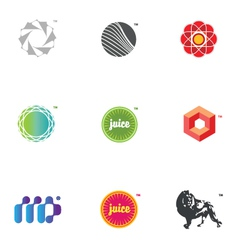 graphic icons and logos vector image
