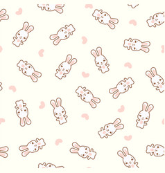 pattern with funny rabbit vector image