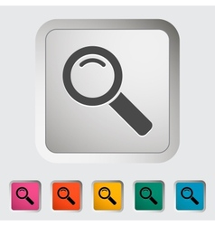 Search single icon vector image