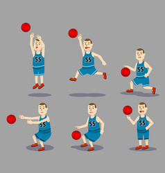 basketball boy character vector image