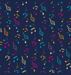 bright musical seamless pattern vector image