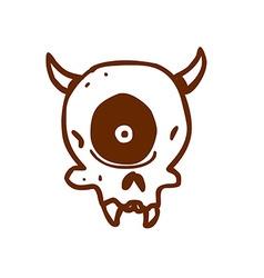 Hand Drawn Cyclops Skull vector image