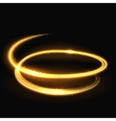 Magic light spiral glitz and glamour effect vector