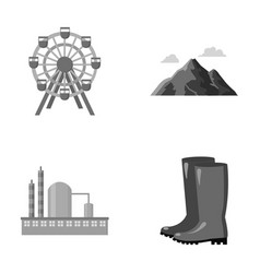 park oil refinery and other monochrome icon in vector image